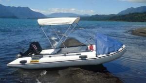 Arriendo bote tipo zodiac con motor fuera de borda